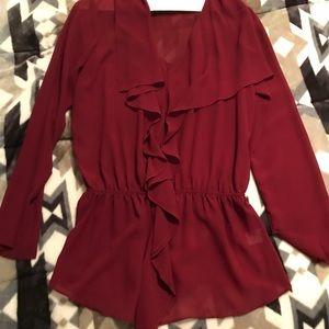 Tops - Women's Red Dress Top